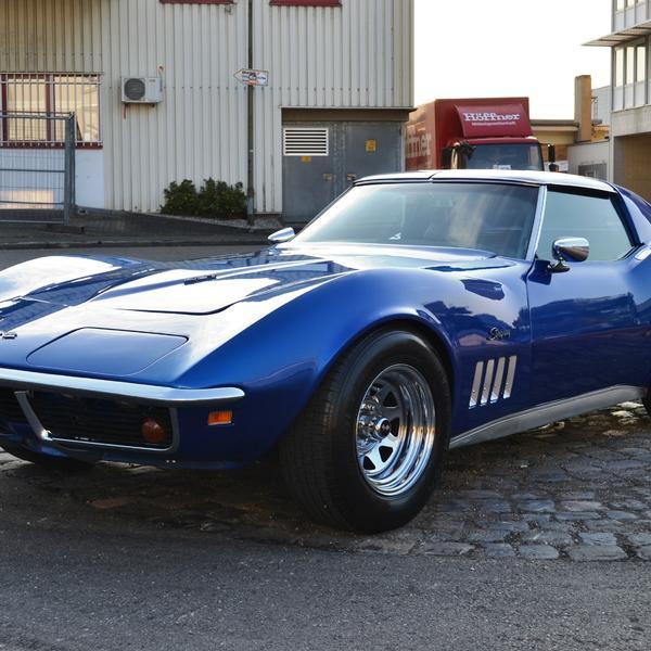 Corvette 1969 Targa Chrommodell